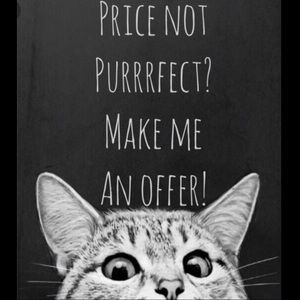 Make an Offer on items you like!! 🛍🐱🐾